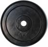 Диск 5 кг, обрезин. черный, отверстие 26 мм.