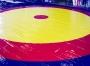 Покрытие борцовского ковра трехцветное.