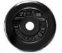 АКЦИЯ. Диск 25 кг, обрезиненный черный, отверстие 51 мм.