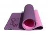 Коврик для йоги розовый 6мм, 1,83х0,615м.